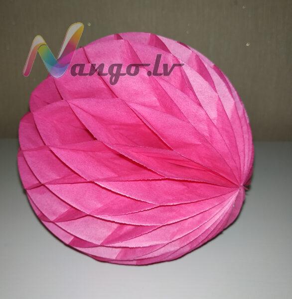 Papīra bumba - šūnu bumba - 15 cm - fuksijas