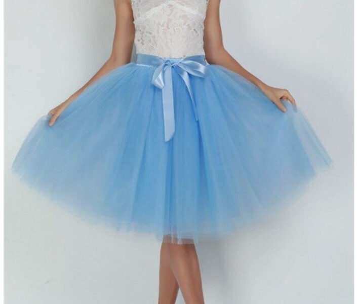 Tulle skirt, lake blue