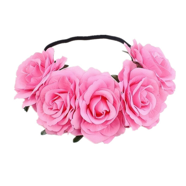 Artificial flower wreath - light roze