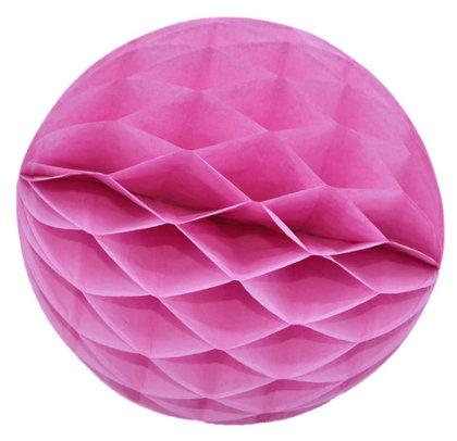 Honeycomb Ball Decoration 8 cm light pink