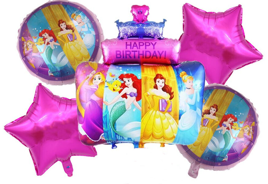 """Balonu komplekts """"Disneja Princese"""" - 5 gab"""