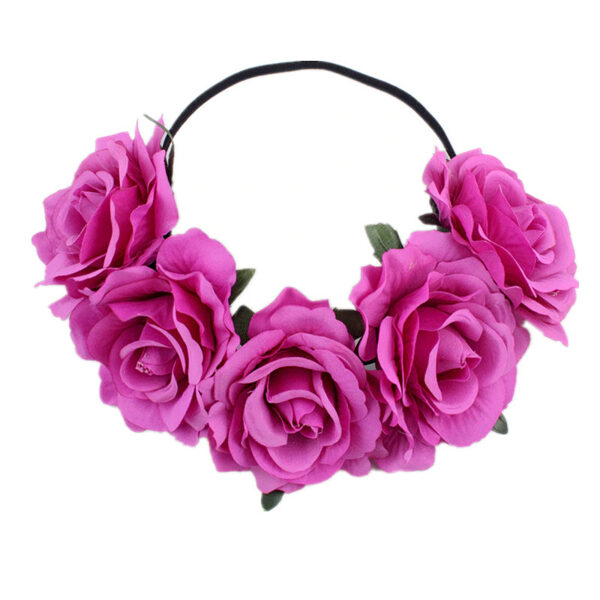 Artificial flower wreath - purple