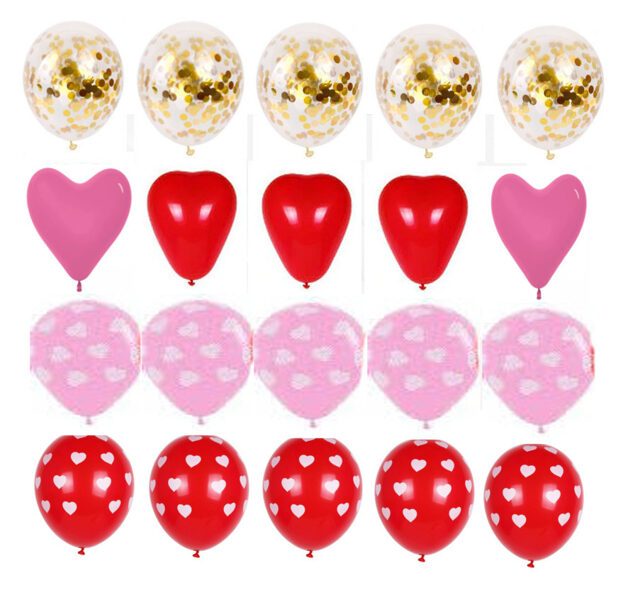 Balloons - set for Valentine's Day - 20 pcs