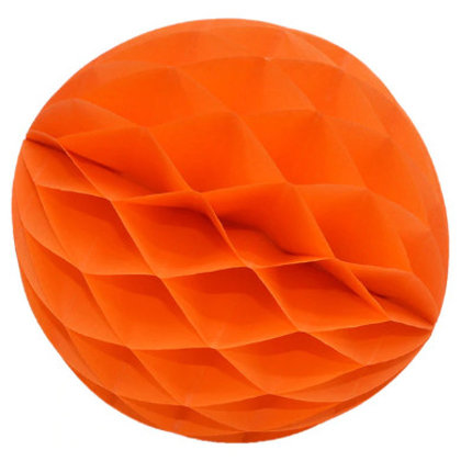 Papīra bumba - šūnu bumba - 8 cm - oranža