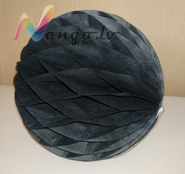 Papīra bumba - šūnu bumba - 15 cm - melna