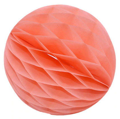 Honeycomb Ball Decoration 8 cm peach