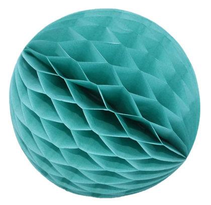 Honeycomb Ball Decoration 8 cm mint