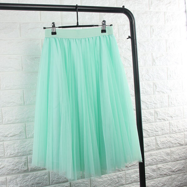 Tulle skirt, mint green