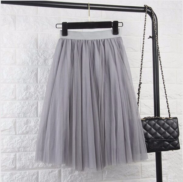 Tulle skirt, grey