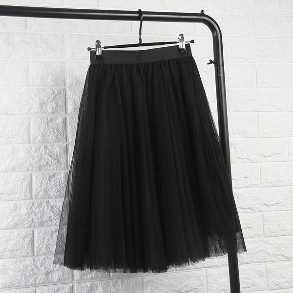 Tulle skirt, black