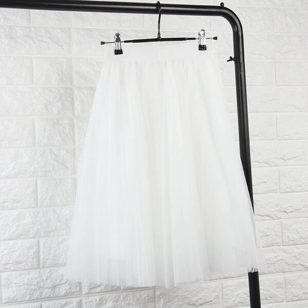 Tulle skirt, white