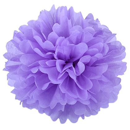 Pompons - zīdpapīra zieds - 10 cm 15 cm 20 cm - gaiši violets