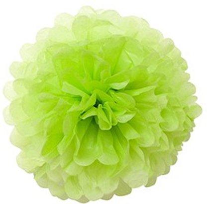 Pompons - zīdpapīra zieds - 10 , 20 , 30 cm - salātu zaļš