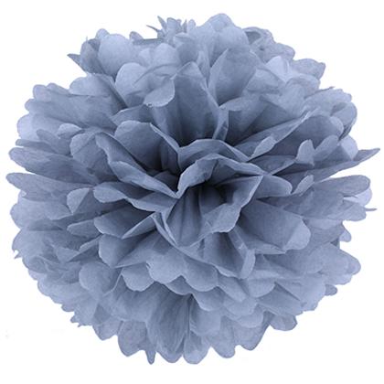 Pompons - zīdpapīra zieds - 20 cm - pelēki