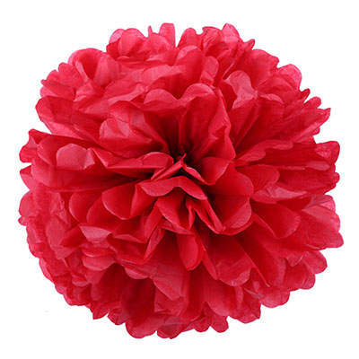 Pompons 10,15,20 cm - red