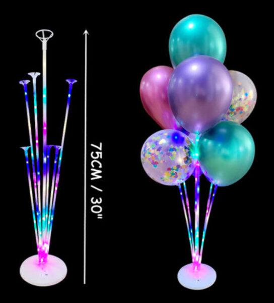 Statīvs baloniem ar LED lampiņām, 70 cm