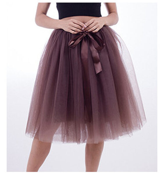 Tulle skirt, brown