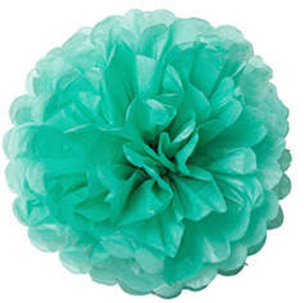 Pompons - zīdpapīra zieds - 10 cm , 20 cm - tiffany