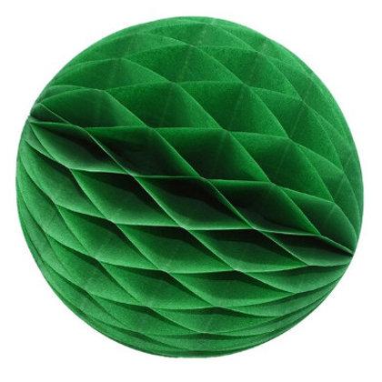 Papīra bumba - šūnu bumba - 8 cm - tumši zaļš