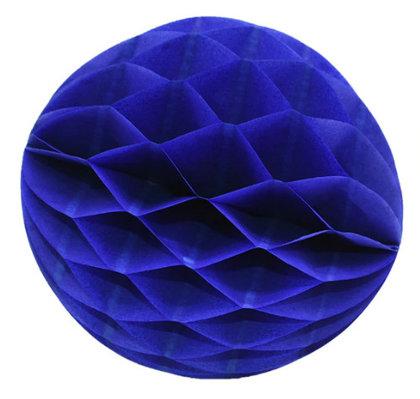 Honeycomb Ball Decoration 8 cm blue