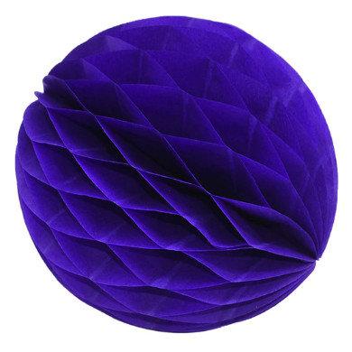 Papīra bumba - šūnu bumba - 8 cm - tumši violeta